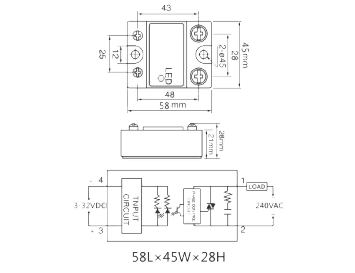Special Design for Humidity Controller - SSR-25DA Single Phase AC Solid State Relay – Taiquan Electric