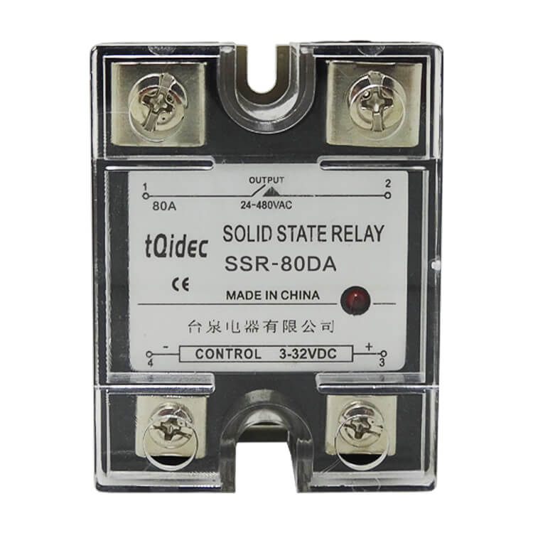 Professional China Temperature And Humidity Controller - SSR-80DA Single Phase AC Solid State Relay – Taiquan Electric