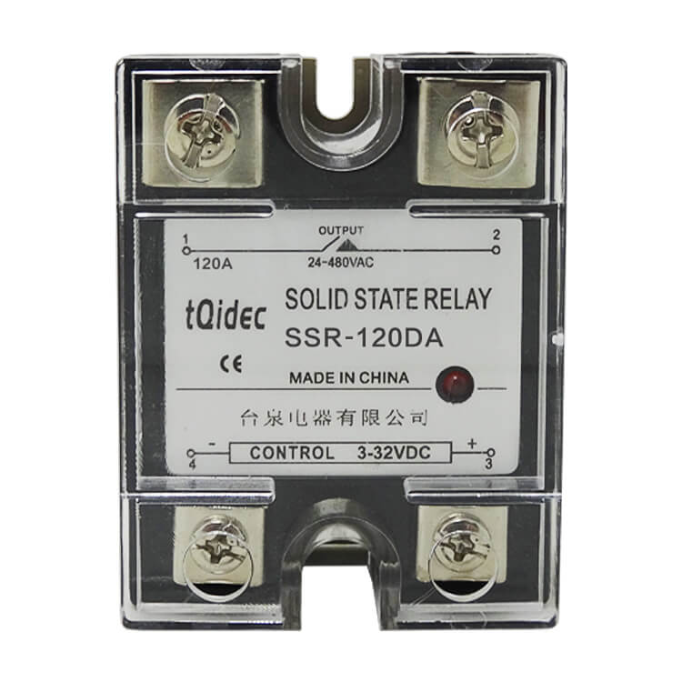 Lowest Price for Single Phase Solid State Relay - SSR-120DA Single Phase AC Solid State Relay – Taiquan Electric Featured Image