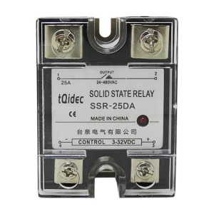 Factory For Ac Electrical Contactor - SSR-25DA Single Phase AC Solid State Relay – Taiquan Electric