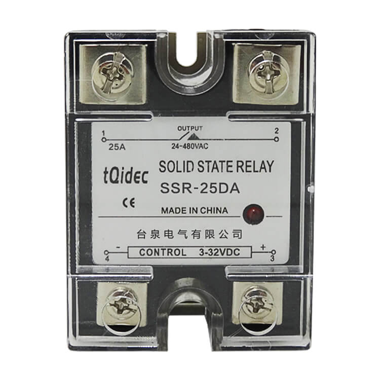 China OEM Weekly Programmable Time Switch - SSR-25DA Single Phase AC Solid State Relay – Taiquan Electric