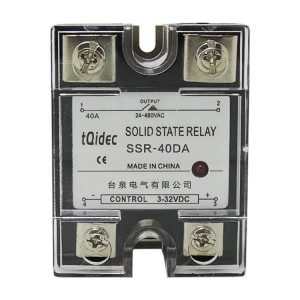 Big discounting Digital Electrical Panel Meter - SSR-40DA Single Phase AC Solid State Relay – Taiquan Electric